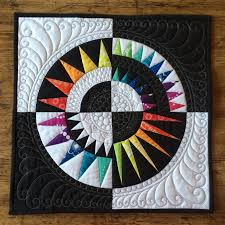 My second entry for this autumn's Bloggers' Quilt Festival is my ... & Mini rainbow New York Beauty quilt Adamdwight.com