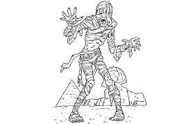 Small Picture Mummy Coloring Pages Egyptian Mummy Coloring Pages Throughout