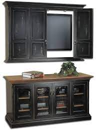flat screen tv wall cabinet console