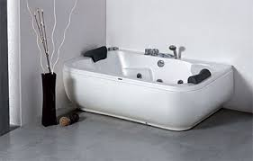 LineaAqua Jayne 71 x 44 Pearlized 2 Person Whirlpool Jetted Bathtub with  Head Rest, Bath Filler, Hand Shower