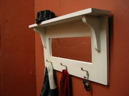 Coat Rack With Mirror And Shelf Entry Mirror with Hooks and Shelf Turguoise Coat Hanger With 8