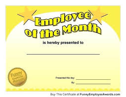 Employee Of The Month Certificate Templates Employee Of The Month Certificate Excellent An Employee Of The