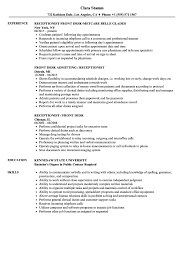 Front Desk Receptionist Resume Sample Desk Receptionist Resume Samples Velvet Jobs 49