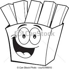 french fries clipart black and white.  Clipart Cartoon French Fries  Csp15199015 To French Fries Clipart Black And White