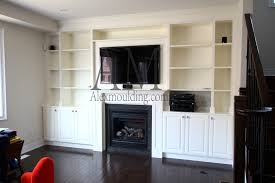 Small Picture Build in Wall TV Entertainment Units Custom Bookcases TV Great