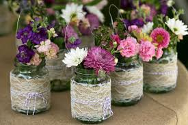 Decorating With Mason Jars And Burlap Lace burlap mason jar center pieces Wedding Pinterest 54