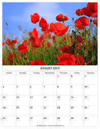 August Theme Calendar August 2019 Calendar My Calendar Land