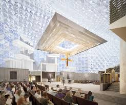the baldachin is a horizontal canopy that floats about 30 feet above the altar