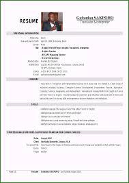Sample Resume Translator Skills Translator Resume Sample Perfect My Translator Interpreter
