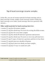 Concierge Photography Concierge Resume It Resume Objective