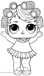Coloring Pages Free Printable Lol Surprise Dolls Coloring Pages