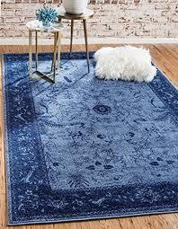 unique loom la jolla collection blue 3 ft round area rug 3 3