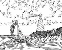 Small Picture Lighthouse Coloring Free Coloring Page for kids