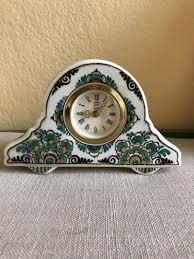 Delft Groen Hand Painted Clock 508 Signed AVA Holland Velsen | #1895988492
