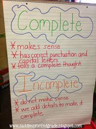 Complete Sentence Anchor Chart Mixing Up Complete And Incomplete Sentences Halloween Style