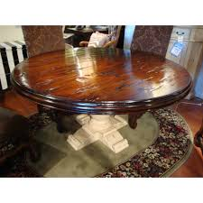 French Country 60 Round Dining Table Reclaimed Top Antique Crackle
