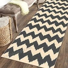 rubber backed 31 x 72 grey chevron runner rug non slip entry hallway kitchen runner