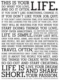 This Is Your Life Quote Simple This Is Your Life Do What You Love And Do It Often If You Don't