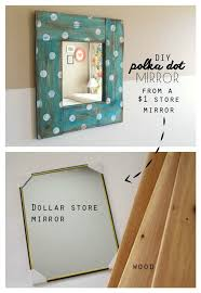 cool crafts you can make for less than 5 dollars make a polka dot mirror