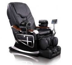 black leather massage chair. leather massage chair recliner black f