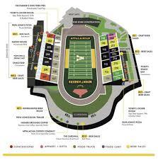 Dobyns Bennett Football Stadium Seating Chart Kidd Brewer Stadium Concessions Map Wataugademocrat Com