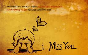 47 Miss You Wallpapers With Quotes On Wallpapersafari
