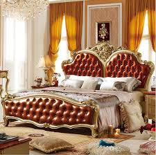 european bedroom furniture. 2017 factory price king size leather modern european solid wood bed fashion carved french bedroom furniture 10068 from tengtank, $954.78   dhgate.com t