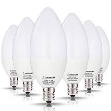 60 watt led candelabra light bulbs lohas daylight white light 5000k 6w e12 base ceiling fan light bulbs candle shape chandelier kitchen light