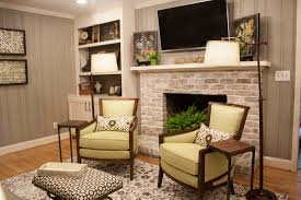 Living Room Wood Paneling Decorating Wood Panelling Room That Was Painted And Brick White Washed