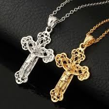 luxury uni couple 18k gold plated platinum plated cross pendant necklace jewelry anniversary gift men s fashion on carou