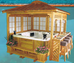8ft x 8ft Garden House Mahogany Gazebo with Jacuzzi...need to build this