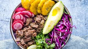 instant pot beef taco bowl with