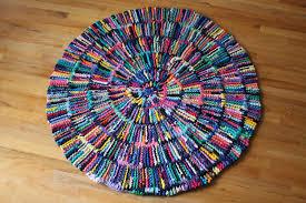 home interior weird round rag rug t shirt rainbow circular shabby cottage chic log from
