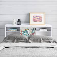 white queen size headboard.  White Bridgette Modern White Queensize Bookcase Headboard For Queen Size N