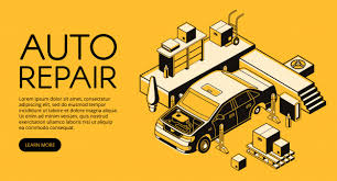 Service Advertisement Auto Repair Illustration Of Car Service Advertisement Poster Vector