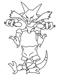 Pokemon Coloring Pages Mega Alakazam