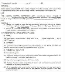 lease contract template equipment lease form template 12 equipment rental agreement