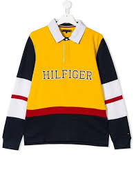 tommy hilfiger junior teen colour block rugby shirt