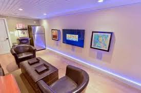 led and recessed basement lighting design