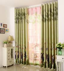 Living Room Curtain Sets Aliexpresscom Buy Sheer Curtains Green Lovely Giraffe Finished