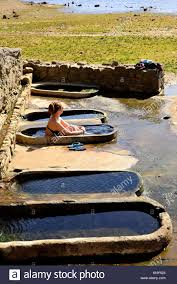 Basins Of Roman Bath Of Os Baños, Orense, Spain