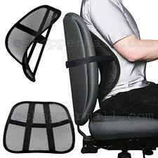 chair with lumbar support. Cool Vent Cushion Mesh Back Lumbar Support New Car Office Chair Truck Seat Black With