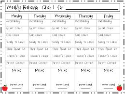 Weekly Behavior Chart Weekly Behavior Chart Kindergarten Www Bedowntowndaytona Com