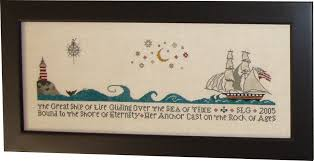 And They Sinned Cross Stitch Chart Ship Of Life Sampler One Million Stitches