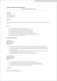 18 Lovely Labor And Delivery Nurse Resume Units Card Com