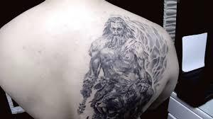 татуировки от Black Style Tattoo перекрытие воин и саблезубый тигр