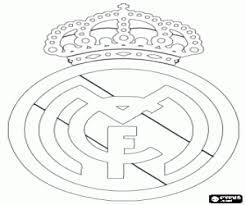 escudo del real madrid cf para colorear