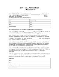 Personal Car Sale Agreement Motor Vehicle Sale Agreement Form Hire Purchase Example