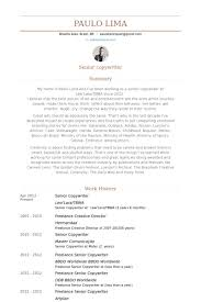 Copywriter Cv Sample Example All Therefore Senior Resume Keyhome Inspiration Copywriter Resume