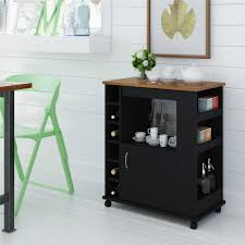 Kitchen Storage Carts Cabinets Charlton Home Worcester Kitchen Cart With Wood Top Reviews Wayfair
